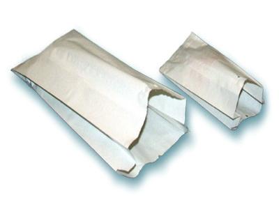 500 Seitenfaltenbeutel 435 20x7x48cm Cellulose gefädelt weiß