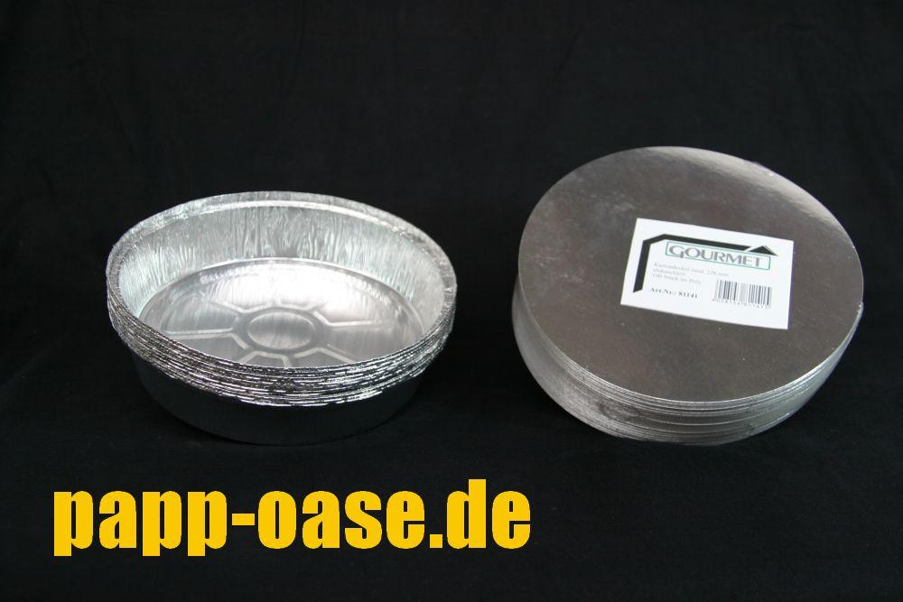 100 Deckel für Aluschalen  Ø180mm