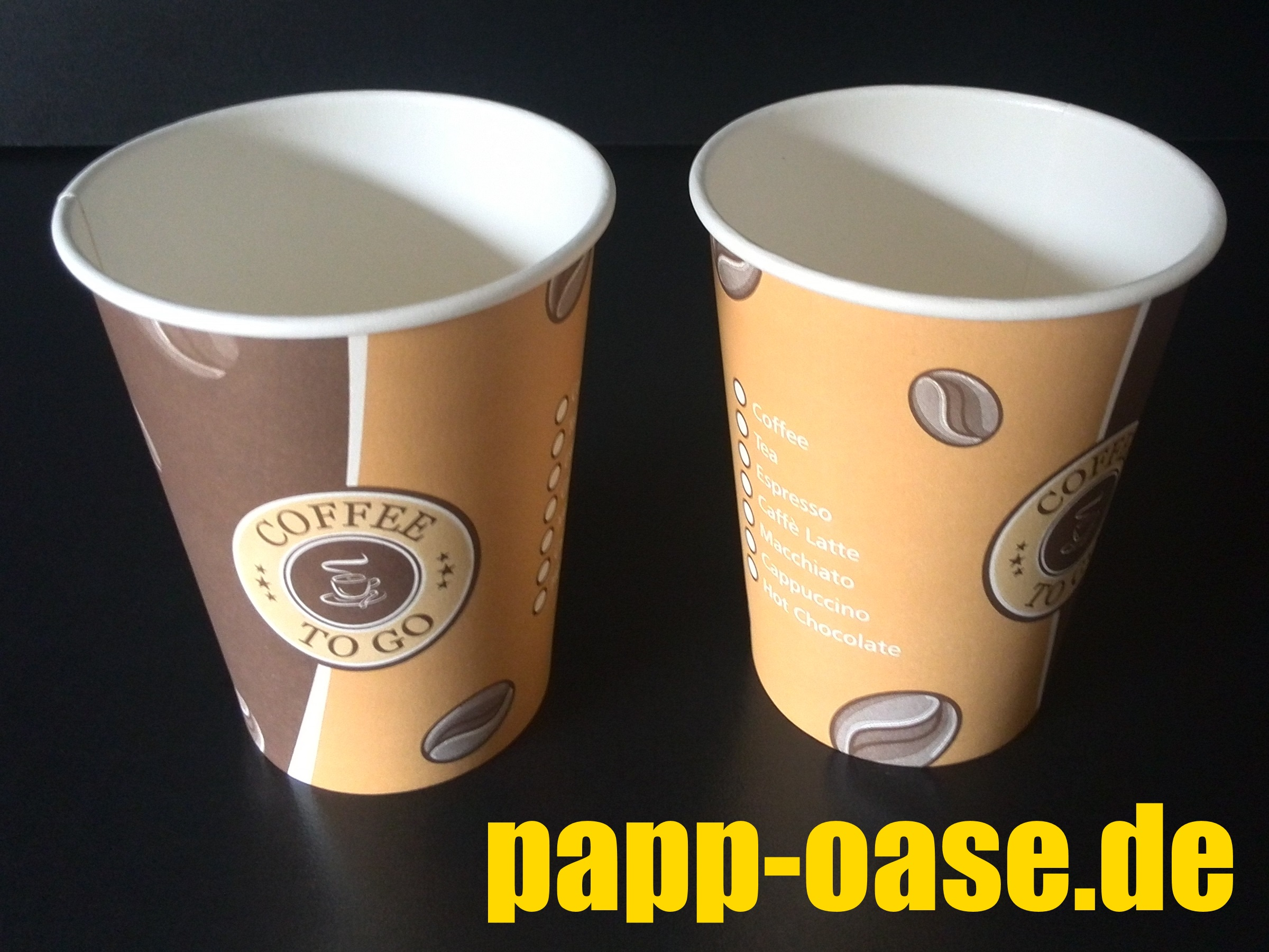 Coffee To Go Becher 300ml 12oz Ø90mm 1000 Stück