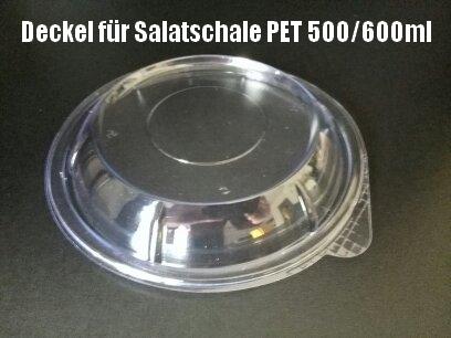 600 Dom-Deckel für Salatschale PET 500/600ml rund klar
